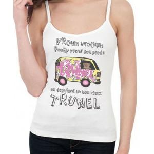 T-shirt femme - Pooky prend son pied dans le van